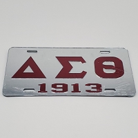 Delta Sigma Theta Mirrored Auto Plate Letters and Year
